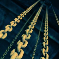 Chains used for construction